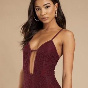 OUT FOR THE DAY WINE BODYCON DRESS